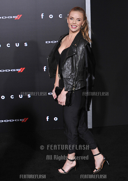 """Kelli Garner at the Los Angeles premiere of """"Focus"""" at the TCL Chinese Theatre, Hollywood.<br /> February 24, 2015  Los Angeles, CA<br /> Picture: Paul Smith / Featureflash"""