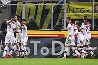 Federico Santander of Bologna celebrates with team mates after scoring goal of 0-1 <br /> Milano 03-02-2019 Stadio San Siro Football Serie A 2018/2019 Inter - Bologna    <br /> Foto Image Sport / Insidefoto