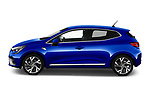 Car Driver side profile view of a 2020 Renault Clio-e-Tech RS-Line 5 Door Hatchback Side View