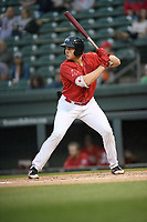 Designated hitter Triston Casas (38) of the Greenville Drive bats in a game against the Rome Braves on Friday, April 19, 2019, at Fluor Field at the West End in Greenville, South Carolina. Greenville won, 2-0. (Tom Priddy/Four Seam Images)
