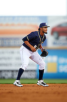 San Antonio Missions shortstop Jose Rondon (6) during a game against the Midland RockHounds on April 21, 2016 at Nelson W. Wolff Municipal Stadium in San Antonio, Texas.  Midland defeated San Antonio 9-2.  (Mike Janes/Four Seam Images)
