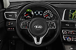 Car pictures of steering wheel view of a 2018 KIA Optima EX-Hybrid 4 Door Sedan Steering Wheel