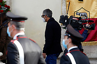 The comic Fiorello during the funeral of the Italian actor Gigi Proietti. The actor was taken to the Globe Theatre for a short ceremony before the one in the church of Artist in Piazza del popolo.<br /> Rome (Italy), November 5th 2020<br /> Photo Samantha Zucchi Insidefoto