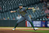 Baylor Bears starting pitcher Hayden Kettler (28) in action against the Arkansas Razorbacks in game nine of the 2020 Shriners Hospitals for Children College Classic at Minute Maid Park on March 1, 2020 in Houston, Texas. The Bears defeated the Razorbacks 3-2. (Brian Westerholt/Four Seam Images)