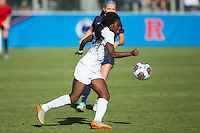 Cary, North Carolina - Sunday December 6, 2015: Toni Payne (10) of the Duke Blue Devils chases after the ball during second half action against the Penn State Nittany Lions at the 2015 NCAA Women's College Cup at WakeMed Soccer Park.  The Nittany Lions defeated the Blue Devils 1-0.
