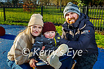 Jacob, Claire Lee and Darren Stack enjoying the playground in the Tralee town park on Saturday.