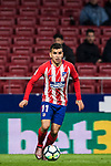 Angel Correa of Atletico de Madrid in action during the La Liga 2017-18 match between Atletico de Madrid and CD Leganes at Wanda Metropolitano on February 28 2018 in Madrid, Spain. Photo by Diego Souto / Power Sport Images