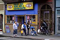 San Francisco, California.  Mission District, 24th Street.