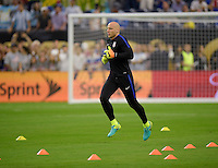 Houston, TX - Tuesday June 21, 2016: Brad Guzan prior to a Copa America Centenario semifinal match between United States (USA) and Argentina (ARG) at NRG Stadium.
