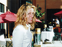 """26 April 2021 - Frances McDormand wins her third Best Actress Oscar for """"Nomadland"""" at the 93rd Academy Awards.  File Photo: TIFF 2002, Toronto, Ontario, Canada. Photo Credit: Brent Perniac/AdMedia"""