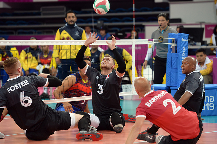 Austin Hinchey, Jesse Buckingham, and Mikael Bartholdy, Lima 2019 - Sitting Volleyball // Volleyball assis.<br />
