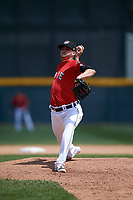 Erie SeaWolves starting pitcher Myles Jaye (7) delivers a pitch during a game against the Reading Fightin Phils on May 18, 2017 at UPMC Park in Erie, Pennsylvania.  Reading defeated Erie 8-3.  (Mike Janes/Four Seam Images)