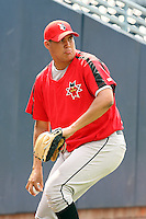 June 12th 2008:  Pitcher Romulo Sanchez of the Indianapolis Indians, Class-AAA affiliate of the Pittsburgh Pirates, during a game at Fifth Third Field in Toledo, OH.  Photo by:  Mike Janes/Four Seam Images