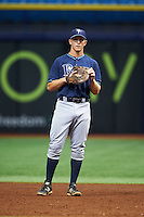 Tampa Bay Rays Joe McCarthy (31) during an instructional league game against the Boston Red Sox on September 24, 2015 at Tropicana Field in St Petersburg, Florida.  (Mike Janes/Four Seam Images)