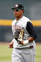 June 25, 2009:  Right Fielder Jose Tabata (31) of the Altoona Curve in the field during a game at Jerry Uht Park in Erie, PA.  The Altoona Curve are the Eastern League Double-A affiliate of the Pittsburgh Pirates.  Photo by:  Mike Janes/Four Seam Images