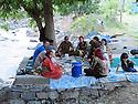 Iran 2004.Pique-nique au bord de la cascade a coté de Sardacht.Iran 2004.Picnic party near a waterfall