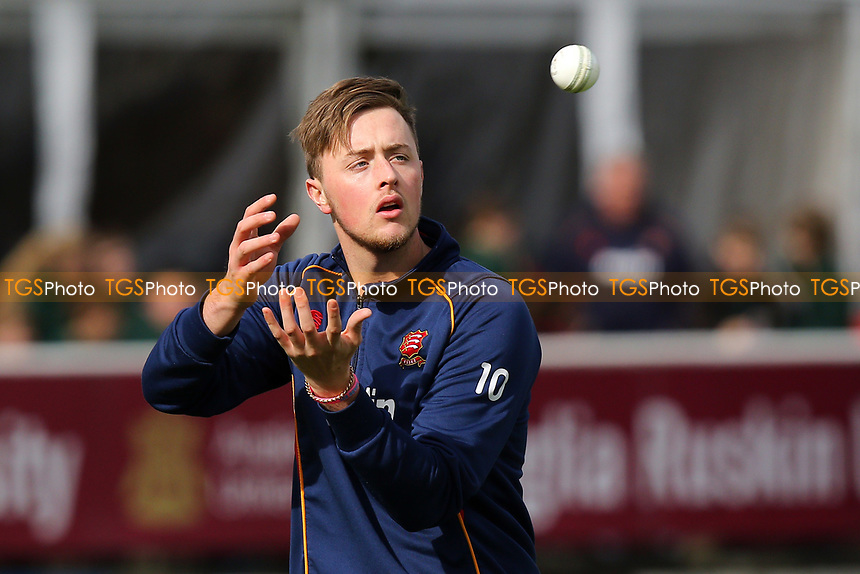 Ollie Robinson of Essex catches the ball during Essex CCC vs Middlesex CCC, T20 Pre-Season Friendly Cricket at the Essex County Ground on 26th March 2015
