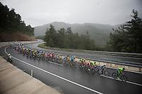 peloton through the rain<br /> <br /> Tour of Turkey 2014<br /> stage 4