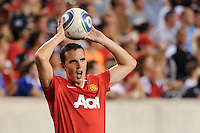 John O'Shea (22) of Manchester United. Manchester United (EPL) defeated the Philadelphia Union (MLS) 1-0 during an international friendly at Lincoln Financial Field in Philadelphia, PA, on July 21, 2010.