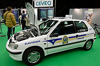 Montreal's AUTO SHOW 2007 feature many electric cars such as the Peugeot 106 currently used by Saint-Jerome Police Department.<br /> <br /> <br /> <br /> photo :  Images Distribution