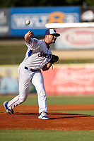 Tennessee Smokies pitcher Peyton Remy (39) delivers a pitch to the plate against the Mississippi Braves at Smokies Stadium on July 15, 2021, in Kodak, Tennessee. (Danny Parker/Four Seam Images)