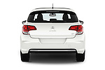 Straight rear view of 2016 Citroen C4 Feel 5 Door Hatchback Rear View  stock images