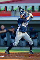 Kevin Kiermaier #39 of the Princeton Rays at bat against the Burlington Royals at Burlington Athletic Stadium July 11, 2010, in Burlington, North Carolina.  Photo by Brian Westerholt / Four Seam Images