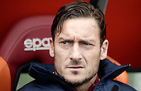 Roma's Francesco Totti sits on the bench for the start of the Italian Serie A football match between Roma and Napoli at Rome's Olympic stadium, 4 March 2017. <br /> UPDATE IMAGES PRESS/Isabella Bonotto