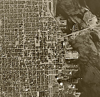historical aerial photograph of  Chicago, Illinois,  1961