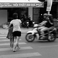 Mobylettes en mouvement, Vietnam, 2019