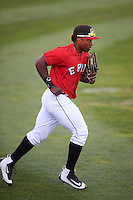 Erie SeaWolves left fielder Christin Stewart (17) jogs to the dugout during a game against the Richmond Flying Squirrels on August 22, 2016 at Jerry Uht Park in Erie, Pennsylvania.  Erie defeated Richmond 4-2.  (Mike Janes/Four Seam Images)