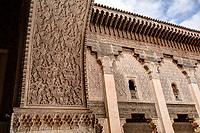 Marrakesh, Morocco.  Archway Decoration, Medersa Ben Youssef, 16th. Century.