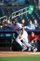 Jupiter Hammerheads designated hitter Junior Sosa (4) at bat during a game against the Palm Beach Cardinals on August 12, 2016 at Roger Dean Stadium in Jupiter, Florida.  Jupiter defeated Palm Beach 9-0.  (Mike Janes/Four Seam Images)