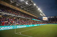 Orlando, FL - Friday Oct. 06, 2017: Hisense boards during a 2018 FIFA World Cup Qualifier between the men's national teams of the United States (USA) and Panama (PAN) at Orlando City Stadium.