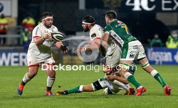 Friday 2nd October 2020 | Ulster Rugby vs Benetton Rugby<br /> <br /> Marty Moore on the attack during the PRO14 Round 1 clash between Ulster Rugby and Benetton Rugby at Kingspan Stadium, Ravenhill Park, Belfast, Northern Ireland. Photo by John Dickson / Dicksondigital