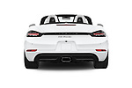 Straight rear view of 2019 Porsche 718-Boxster - 2 Door Convertible Rear View  stock images