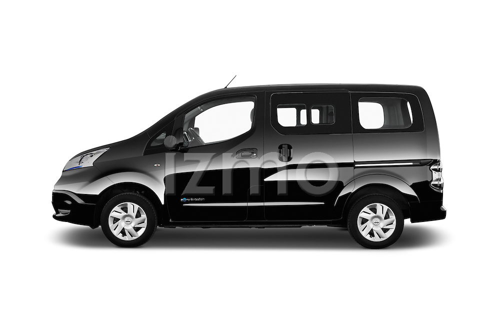 Car Driver side profile view of a 2016 Nissan E-Nv200-Evalia Connect-Edition 5 Door Mini MPV Side View