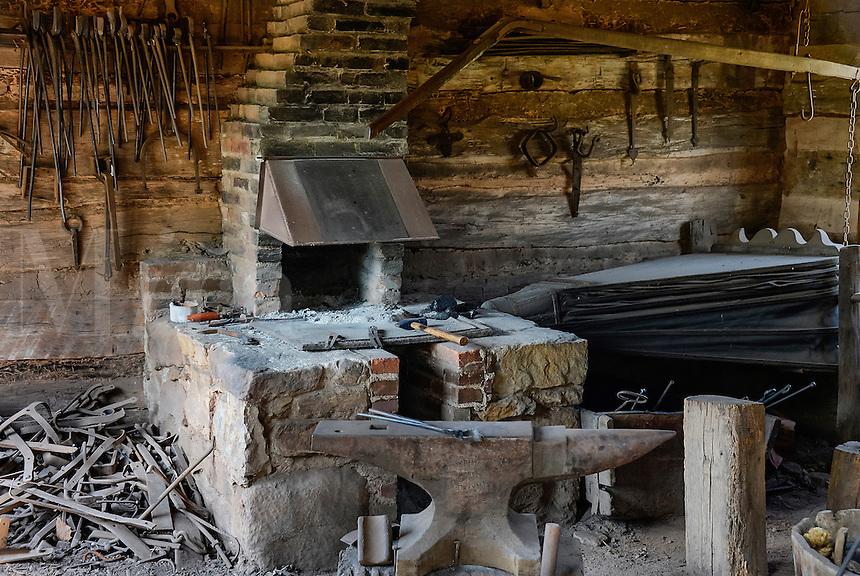 Blacksmith shop, Daniel Boone Homestead, Birdsboro, Pennsylvania, USA