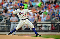 24 July 2012: New York Mets starting pitcher R.A. Dickey on the mound against the Washington Nationals at Citi Field in Flushing, NY. The Nationals defeated the Mets 5-2 to take the second game of their 3-game series. Mandatory Credit: Ed Wolfstein Photo