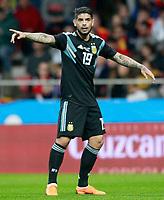Argentina's Ever Banega during international friendly match. March 27,2018.(ALTERPHOTOS/Acero) /NortePhoto.com NORTEPHOTOMEXICO