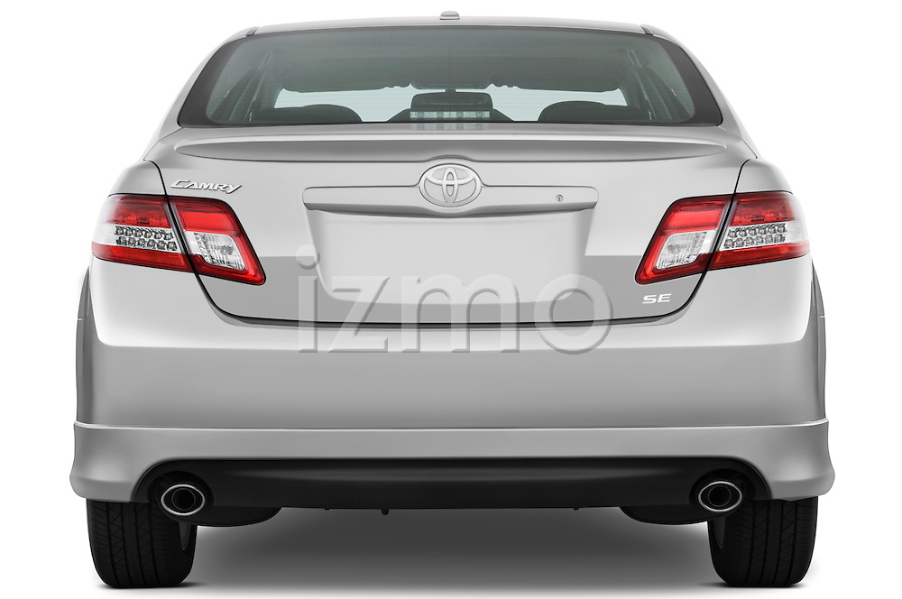 Straight rear view of a 2010 Toyota Camry SE V6