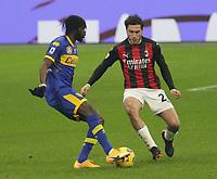 Milano  05-12-2020<br /> Stadio Giuseppe Meazza<br /> Campionato Serie A Tim 2020/21<br /> Milan - parma<br /> nella foto: Davide Calabria                                                         <br /> Antonio Saia Kines Milano