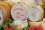 Italy, South Tyrol, Alto Adige, Val Pusteria, Brunico: Dariz deli, number 1 in Brunico - cheese