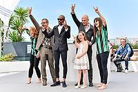 En présence des réalisateurs Arthur DE PINS et Alexis DUCORD, du compositeur Mat BASTARD et d'Esther CORVEZ-BEAUDOIN qui prête sa voix au film ZOMBILLENIUM, photocall lors du soixante-dixième (70ème) Festival du Film à Cannes, Palais des Festivals et des Congres, Cannes, Sud de la France, mercredi 24 mai 2017. Philippe FARJON / VISUAL Press Agency