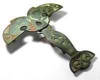 Metal detectorist celebrating after 2,000 year old horse brooch he dug up sold for over £71k.