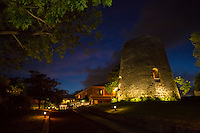 The sugar mill at night<br />