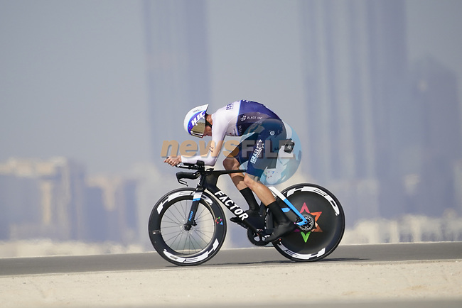 Chris Froome (GBR) Isreal Start-Up Nation during Stage 2 of the 2021 UAE Tour an individual time trial running 13km around  Al Hudayriyat Island, Abu Dhabi, UAE. 22nd February 2021.  <br /> Picture: Eoin Clarke | Cyclefile<br /> <br /> All photos usage must carry mandatory copyright credit (© Cyclefile | Eoin Clarke)