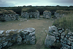Chysauster Ancient Village is a late Iron Age and Romano-British village of courtyard houses in Cornwall