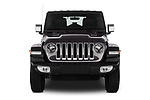 Car photography straight front view of a 2019 Jeep Wrangler Unlimited Sahara 5 Door SUV