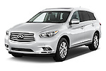 Front three quarter view of a 2014 Infiniti QX60